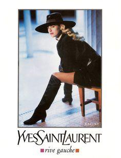 ELAINE IRWIN Yves Saint Laurent Ad 1990