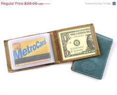 CHRISTMAS IN JULY Credit Card Wallet  in by AmielLeatherDesign, $19.00