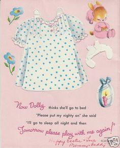 BUNNY EASTER Greeting Paper Doll Card RARE 1950's For You Daughter Norcross (02/06/2013)