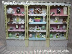 dollhouse miniature easter/spring | ... Easter Display Cabinet (which is now on Etsy) & a little Easter Gift