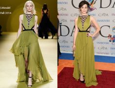 Emmy Rossum In J.Mendel - 2014 CFDA Fashion Awards. Re-tweet and favorite it here: https://twitter.com/MyFashBlog/status/473621493406920704/photo/1