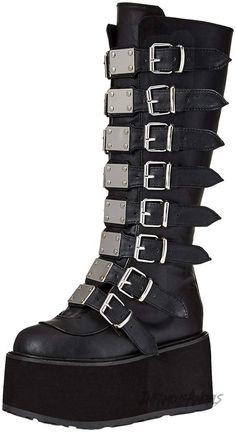 1c9066460fc901 Demonia Women s Damned-318 Knee High Boot - Black