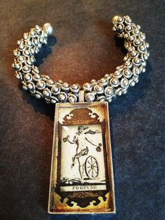 Fortunte Tarot Card Bracelet by KimmysRoom on Etsy