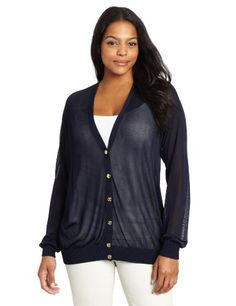 $66.22 cool Anne Klein Women's Plus-Size Long Sleeve Cardigan