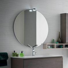 Miroir de salle de bains rond Sfera sans cadre