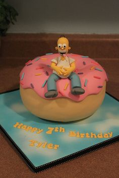 Donut cake with Homer