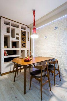 Красочный дизайн однокомнатной квартиры (30 кв.м.) - Дизайн интерьеров   Идеи вашего дома   Lodgers