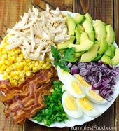 EASY CHICKEN AVOCADO SALAD – Quick and simple Chicken Avocado Salad is so easy… - Find recipes from your favourite BBC programmes and chefs, or browse by ingredient or dish. With over 13000 recipes you're sure to find the perfect dish. Avocado Salad Recipes, Avocado Chicken Salad, Easy Salad Recipes, Chicken Salad Recipes, Healthy Recipes, Avocado Ideas, Clean Eating Salads, Healthy Eating, Berry