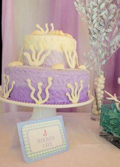 Whimsical Mermaid Birthday Party via Kara's Party Ideas   KarasPartyIdeas.com #mermaid #birthday #party #ideas #cake #supplies (23)