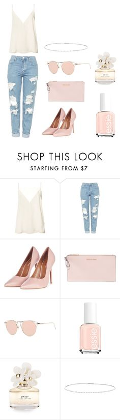 """""""Millennial pink touches"""" by liv13623 ❤ liked on Polyvore featuring Anine Bing, Topshop, MICHAEL Michael Kors, Marc Jacobs and Suzanne Kalan"""