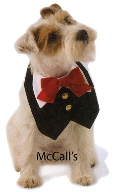 Dog tuxedo animal pet clothes red black vest by simplyudesigns