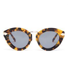 Lunar Flowerpatch Crazy Trotoise/Gold Cats Eye Sunglasses