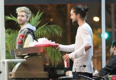 N. 'Tokio Hotel' band mates and twin brothers Bill and Tom Kaulitz leaving Astro Burger in West Hollywood, California on June 14, 2014.