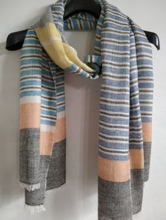Items similar to Cashmere Super soft Kashmiri Stole Cashmere Pashmina, Cashmere Cardigan, Blue And White Scarves, Woven Scarves, Summer Scarves, Corporate Gifts, Bridesmaid Gifts, Tartan, Weaving
