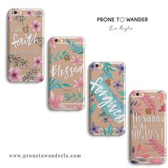 I love these Christian phone cases by @pronetowander_shop  These clear cases mixed with Scripture are amazing! Check them out @pronetowander_shop by biblelockscreens http://ift.tt/1KAavV3