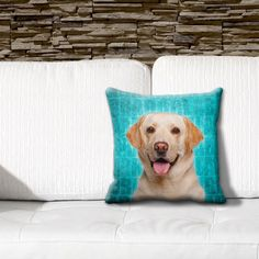 ileesh Labrador Yellow Grunge 16-inch Throw Pillow