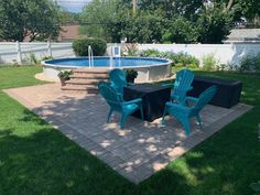 Swimming Pool Landscaping, Above Ground Swimming Pools, Swimming Pools Backyard, In Ground Pools, Semi Inground Pool Deck, Backyard Pool Designs, Backyard Patio, Outdoor Pool, Semi Above Ground Pool