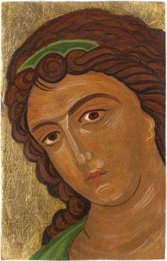 Byzantine Gabriel  icon of an angel handmade orthodox by angelicon, €70.00
