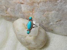 Native American Turquoise Ring by HonestJohnMercantile on Etsy, $35.00