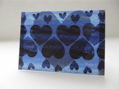 Blue Blue Heart  4x5.5  Art Recycled Paper by LoveRockResidue, $3.50