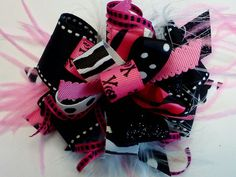 Skull Princess Funky Bowtique Bow by HodgePodgeBowtique on Etsy, $10.00