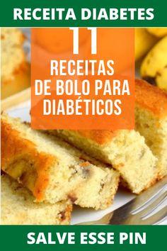 Receitas para o Diabetes!  #receitasparadiabéticos #piteugastronomiacriativa Cake Recipes, Dessert Recipes, Desserts, Diet Cake, Banoffee Pie, Light Diet, Sin Gluten, Food And Drink, Banana