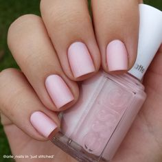 @arle_nails is pretty in 'just stitched' pink.