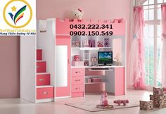 So Extraordinary Full Pink Loft Bed With Desk Closet And Stairs For Girls Cute Bedroom Ideas, Cute Room Decor, Awesome Bedrooms, Cool Rooms, Cool Room Designs, Girl Bedroom Designs, Small Room Bedroom, Bedroom Decor, Loft Beds For Teens