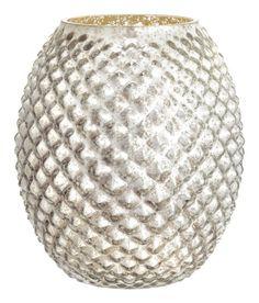 Grote glazen vaas   Zilverkleurig   Home   H&M NL