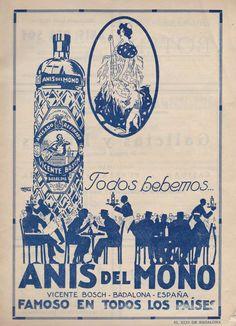 #Publicidad de #AnisdelMono en el Eco de Badalona, 1927