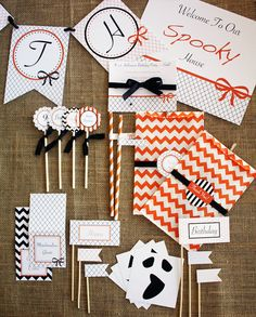 HALLOWEEN BIRTHDAY Party Printables Instant by SaucyPants on Etsy