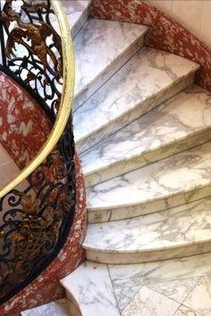 Carrara marble stairs