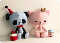 The Princess and the Panda pdf Pattern  Instant by Gingermelon