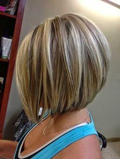 Short Blonde Bob with Highlights