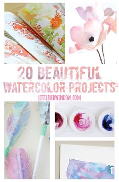 20 Beautiful Watercolor Projects |  littleredwindow.com