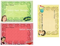 New  RETRO sassy Recipe cards and dividers by RetroSassDesigns