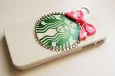 Starbucks Inspired Hard Iphone 4 4s with Pink by puredelusions