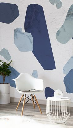 Our Terrazzo-inspired wallpapers as featured in Design Milk