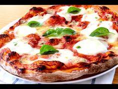 Auténtica pizza italiana. Masa de pizza ¡Sin amasar! Salsa de pizza. Horneado. - YouTube