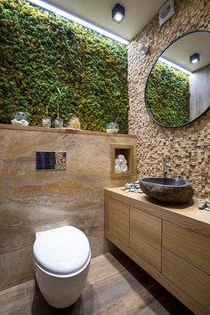 Bathroom eco-design with small vertical gardens - # Check more at bade. Bathroom eco-design with small vertical gardens - # Check more at bade. Bathroom Wall Decor, Bathroom Interior Design, Master Bathroom, Bathroom Ideas, Bathroom Plants, Bathroom Designs, Bathroom Small, Bathroom Layout, Bathroom Remodeling