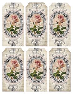 Gift tags for printing! Lilac & Lavender: Pink Roses & French Vanilla