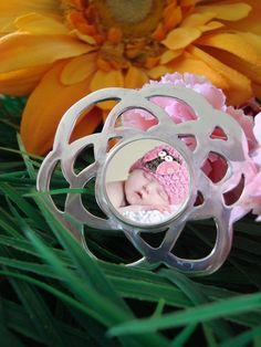 Photo Flower Pendant