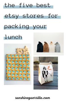 The Five Best Etsy Stores for Packing your Lunch - Lunch bags, Lunch sacks, snack bags Lunch Bags, Snack Bags, Natural Parenting, Natural Cleaners, Summer Activities For Kids, Save The Planet, Guerrilla, Sustainable Living, Zero Waste