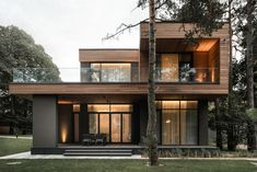 Modern Exterior House Designs, Black House Exterior, Contemporary Home Exteriors, New House Plans, Modern House Plans, Residential Architecture, Architecture Design, Mountain Home Exterior, Minimal House Design