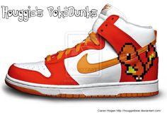 8-Bit Charmander Nike Dunks by HouggieBear on DeviantArt