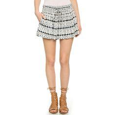 Ella Moss Cortez Mini Shorts (9485 DZD) ❤ liked on Polyvore featuring shorts, black, high-waisted shorts, black shorts, elastic waist shorts, hot pants and short shorts