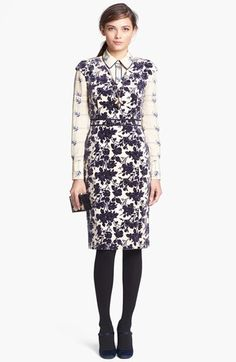 dayton stretch cotton sheath dress / tory burch #Apostolicfashion #modestfashion #modestdress #tzniutfashion #classicdress #formaldress #kosherfashion #apostolicclothing