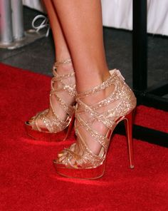 Christian Louboutin Balota heels---saw them with Rag & Bone white/gold Jean jeans...stunning