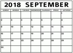 editable september 2018 calendar word