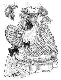 Cinderella Paper Doll: Stepsister